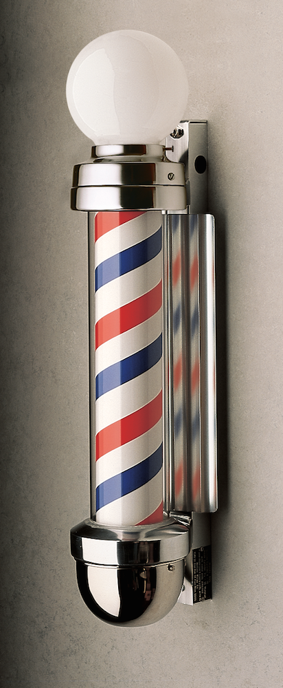 William Marvy 405two Light Wall Mount Barber Pole