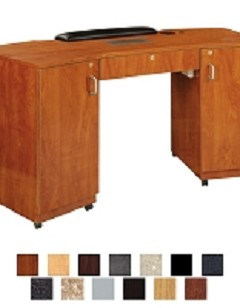 Imperial Double Storage Nail Table w/ Vent