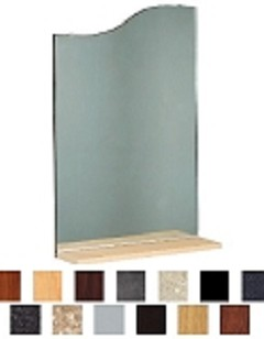 Kaemark Wavy Mirror & Shelf