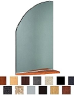 Kaemark Ellipse Mirror & Shelf