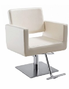 Draper White Salon Chair