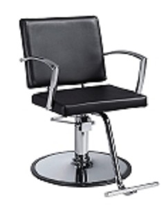Duke Black Hair Salon Chair