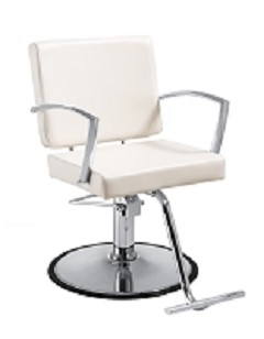 Duke White Salon Chair