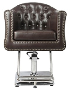 James Hair Salon Chair in Brown