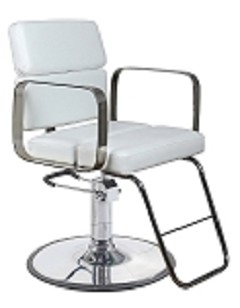 Zac White Salon Chair