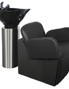American Made Kaemark Custom Loire Stainless Steel Salon Bowl Cylinder with Epsilon Chair Top