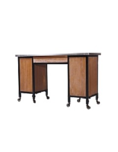 Gruene Rustic Double Manicure Table