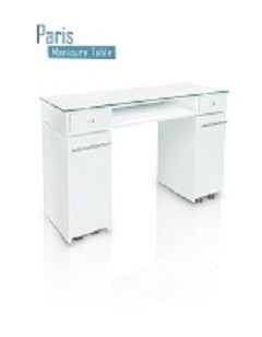 Gulfstream Paris Single Nail Table in White