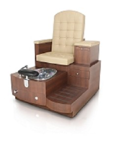 Gulfstream Paris Single Pedicure Bench in Sand