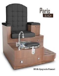 Gulfstream Paris Single Pedicure Bench in Black
