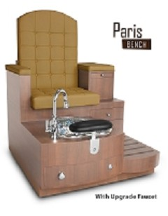 Gulfstream Paris Single Pedicure Bench in Butterscotch