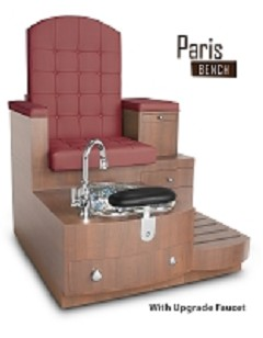 Gulfstream Paris Single Pedicure Bench in Hollyhock
