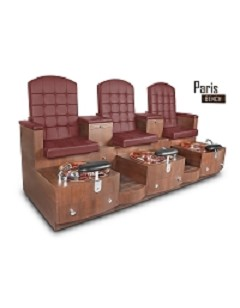 Gulfstream Paris Triple Pedicure Bench in Hollyhock