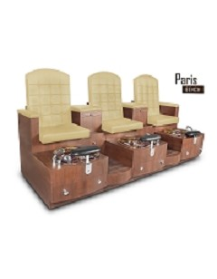 Gulfstream Paris Triple Pedicure Bench in Sand