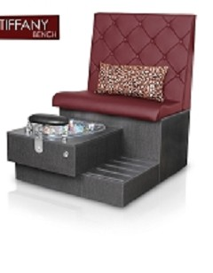 Gulfstream Tiffany Single Pedicure Bench in Hollyhock