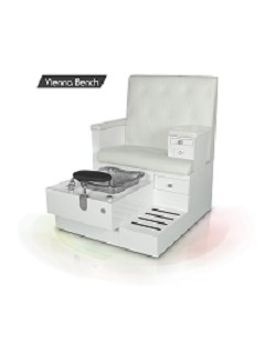 Gulfstream Vienna Single Pedicure Bench in White
