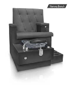 Gulfstream Vienna Single Pedicure Bench in Black