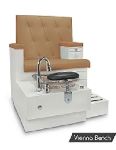Gulfstream Vienna Single Pedicure Bench in Curry