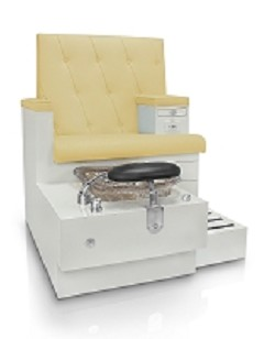 Gulfstream Vienna Single Pedicure Bench in Sand