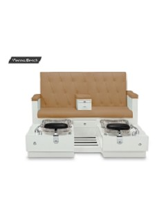 Gulfstream Vienna Double Pedicure Bench in Curry